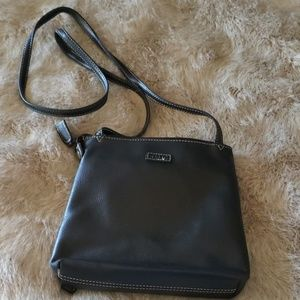 Relic black leather cross body